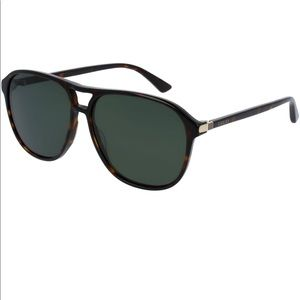 NWOT Gucci Aviator Unisex Tortoise Sunglasses